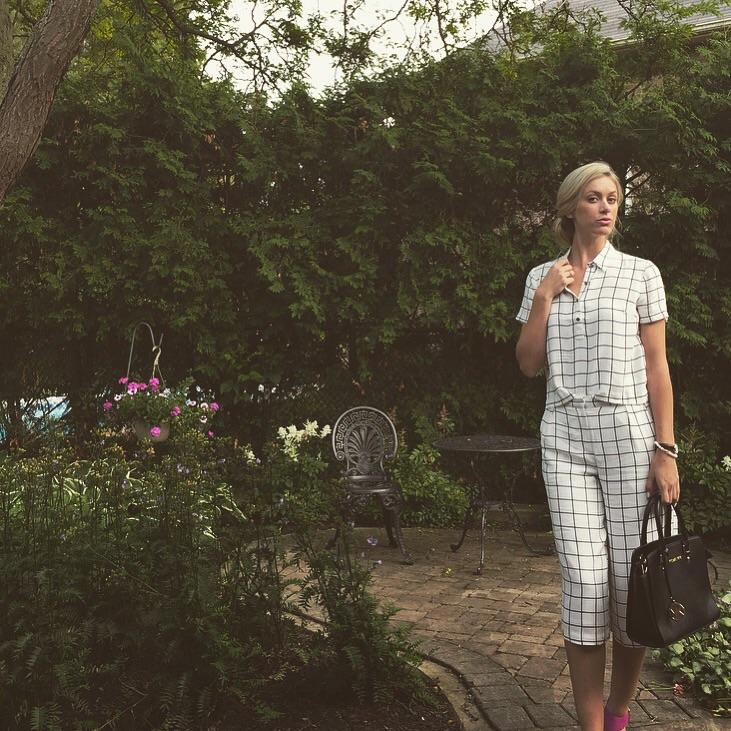 Celebrity Inspired OOTD – Grid Patterned Gaucho Set