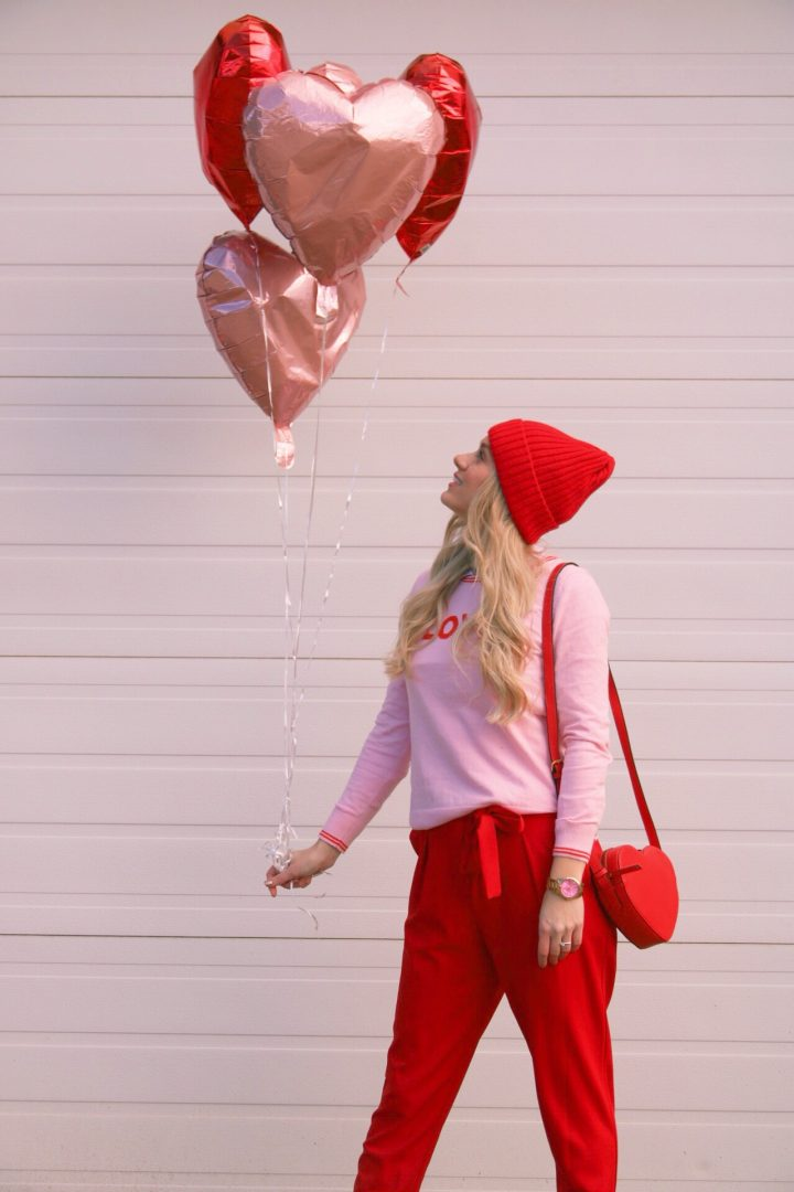 Up up & away: Pink and Red Valentine's OOTD
